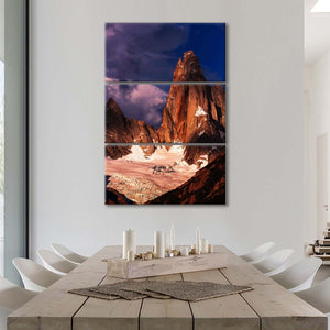 Storm Over Cerro Torre Multi Panel Canvas Wall Art - Nature
