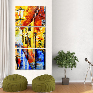 Streets Of London Multi Panel Canvas Wall Art - City