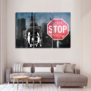 Strong Believer Buddha Multi Panel Canvas Wall Art - Buddhism