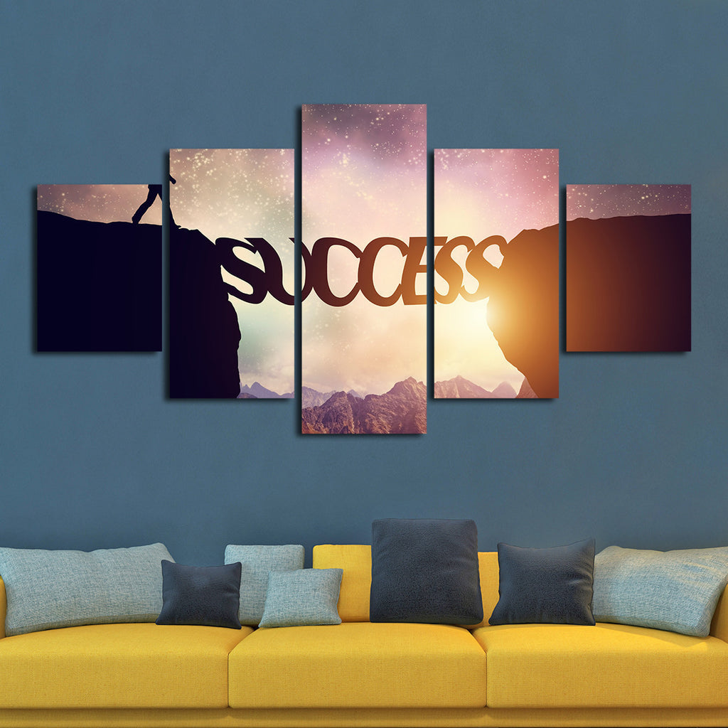 success multi panel canvas wall art elephantstock. Black Bedroom Furniture Sets. Home Design Ideas