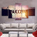Success Multi Panel Canvas Wall Art