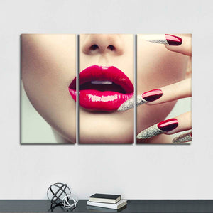 Sultry Nails Multi Panel Canvas Wall Art - Nails