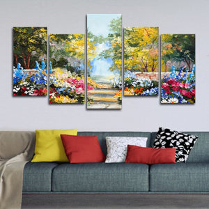 Summer Flowers Multi Panel Canvas Wall Art - Flower