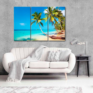 Summer Fun Paradise Multi Panel Canvas Wall Art - Beach