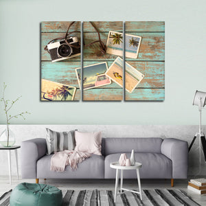 Summer Vacation Multi Panel Canvas Wall Art - Surfing