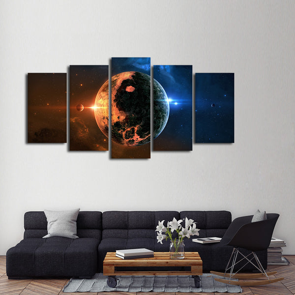 Sun and Moon Yin Yang Multi Panel Canvas Wall Art | ElephantStock