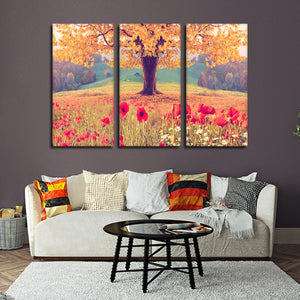 Sunday Picnic Multi Panel Canvas Wall Art - Nature
