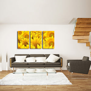 Sunflower Fusion Multi Panel Canvas Wall Art - Flower