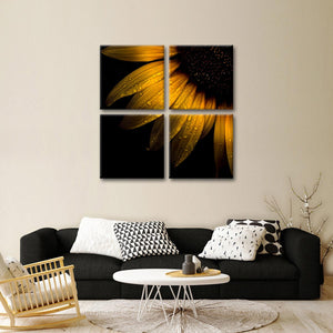 Sunflower Petals Multi Panel Canvas Wall Art - Flower