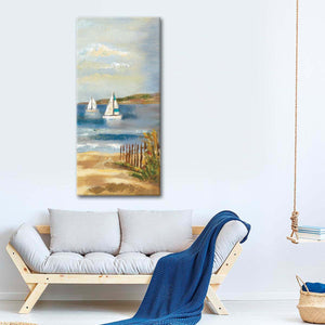 Sunny Beach Panel II Multi Panel Canvas Wall Art - Beach