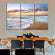 Sunset At Cancun Multi Panel Canvas Wall Art