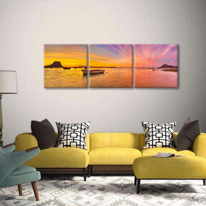 Sunset Seascapes Multi Panel Canvas Wall Art - Nature