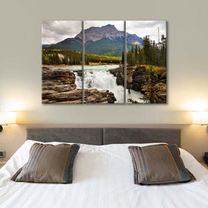 Sunwapta Falls Multi Panel Canvas Wall Art - Nature