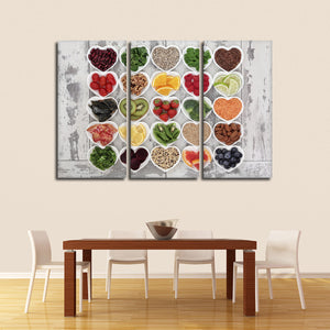 Superfoods Multi Panel Canvas Wall Art - Nutrition