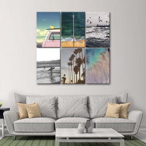 Surf Vibe Canvas Set Wall Art - Surfing