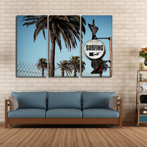 Surf This Way Multi Panel Canvas Wall Art - Surfing