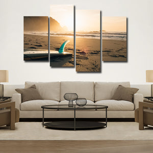 Surfboard Multi Panel Canvas Wall Art - Surfing