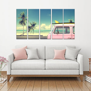 Surfers Nest Multi Panel Canvas Wall Art - Surfing