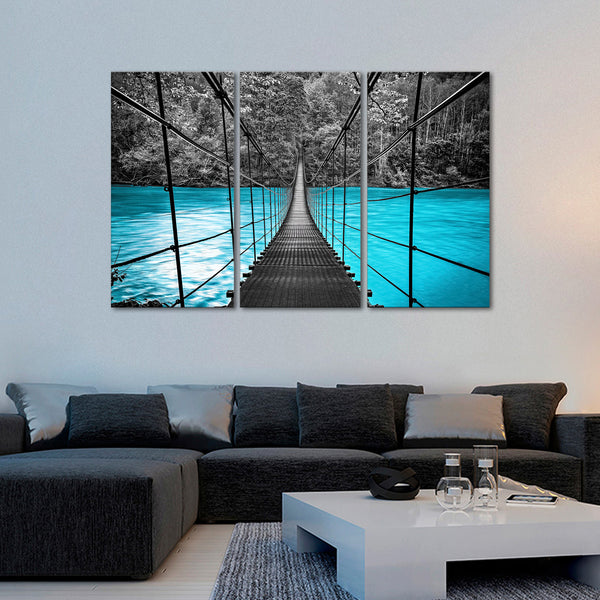 Suspension Bridge Multi Panel Canvas Wall Art