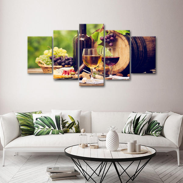 Sweet Wine Happiness Multi Panel Canvas Wall Art