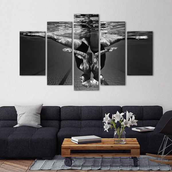 Swim Duet Multi Panel Canvas Wall Art