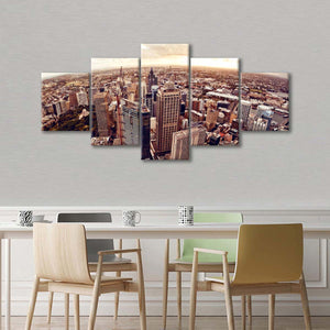 Sydney Aerial View Multi Panel Canvas Wall Art - Aerial