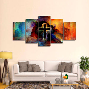 Symbol Of God Multi Panel Canvas Wall Art - Color