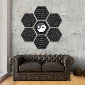 Yin Yang Meditation Multi Panel Canvas Wall Art - Symbol