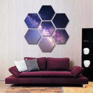Starry Night Milky Way Multi Panel Canvas Wall Art - Astronomy