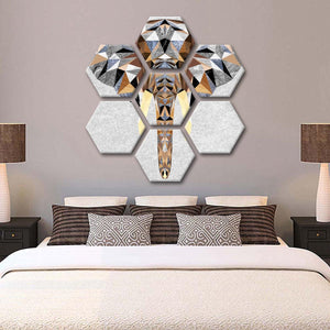 Geo Elephant Multi Panel Canvas Wall Art - Elephant