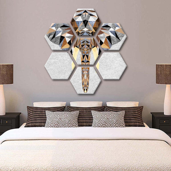 Geo Elephant Multi Panel Canvas Wall Art