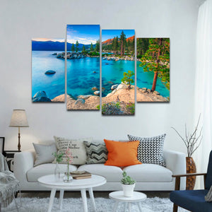 Tahoe Heaven Multi Panel Canvas Wall Art - Nature