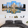 Taj Mahal Multi Panel Canvas Wall Art