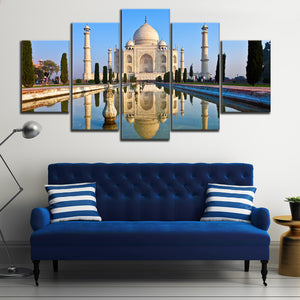 Taj Mahal Multi Panel Canvas Wall Art - India