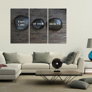 Take Care Of Your Health Multi Panel Canvas Wall Art - Medical