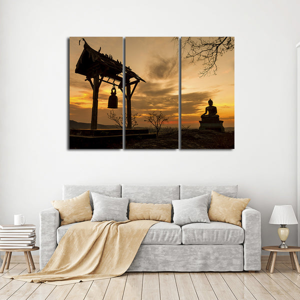 Temple in Saraburi Multi Panel Canvas Wall Art