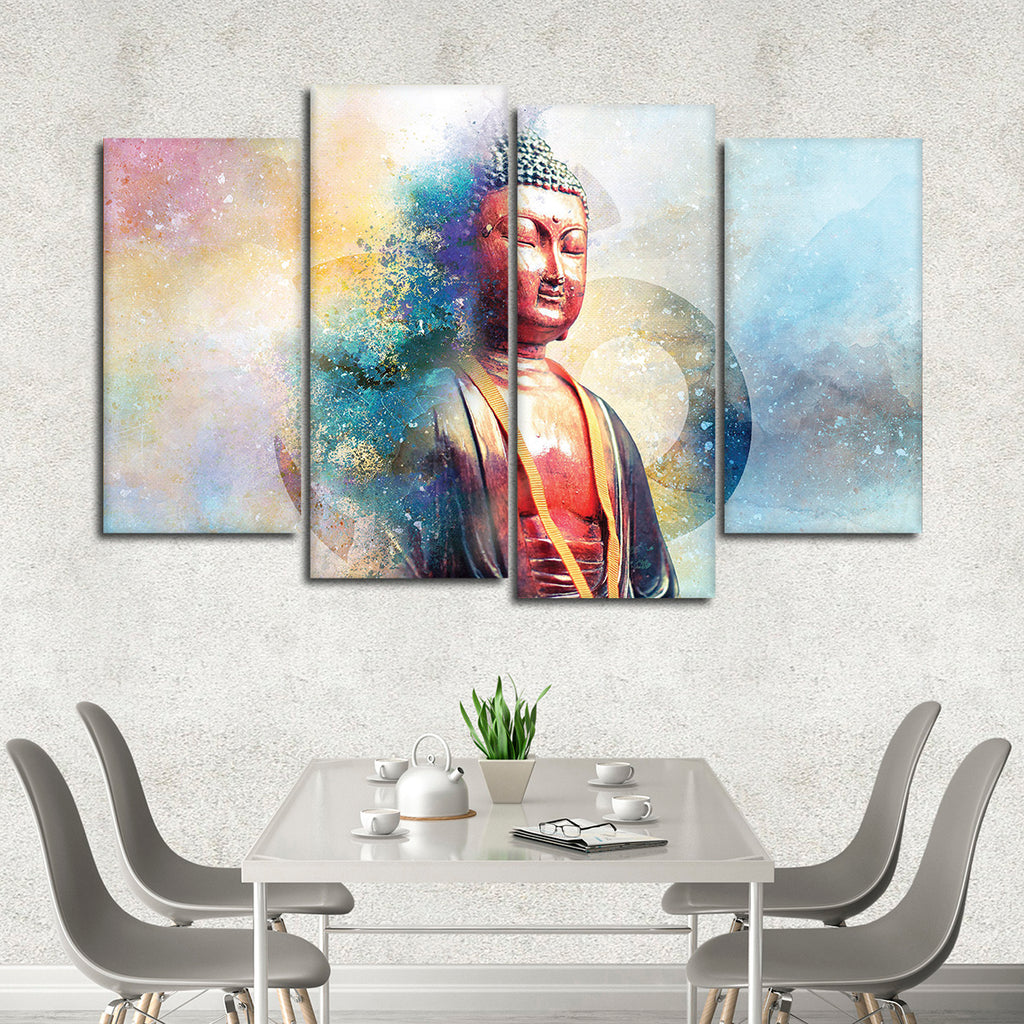 Teachings of buddha multi panel canvas wall art elephantstock