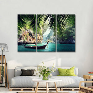 Thai Paradise Multi Panel Canvas Wall Art - Beach