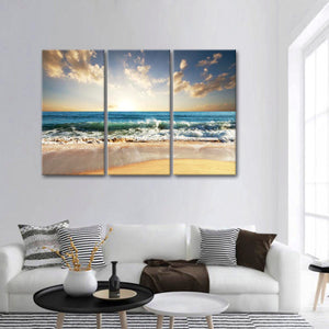 Siesta Key Multi Panel Canvas Wall Art - Beach
