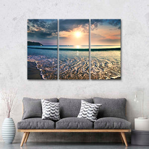 Enjoyable Beach Day Multi Panel Canvas Wall Art - Beach