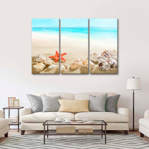 Gifts from the Sea Multi Panel Canvas Wall Art - Beach