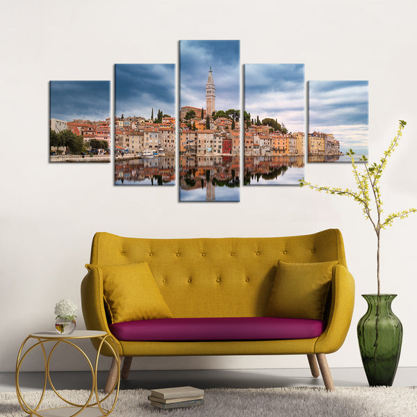 Ancient City Reflection Multi Panel Canvas Wall Art