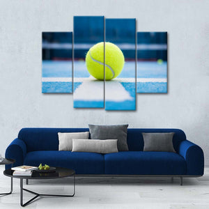 Tennis Ace Multi Panel Canvas Wall Art - Tennis
