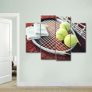 Tennis Club Multi Panel Canvas Wall Art - Tennis