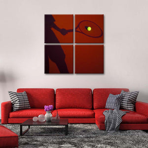 Tennis Moon Ball Multi Panel Canvas Wall Art - Tennis