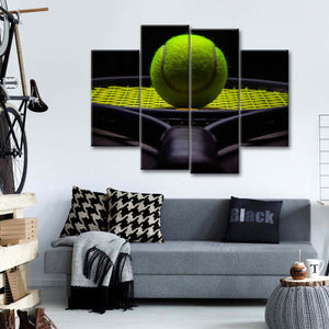 Tennis Underspin Multi Panel Canvas Wall Art - Tennis