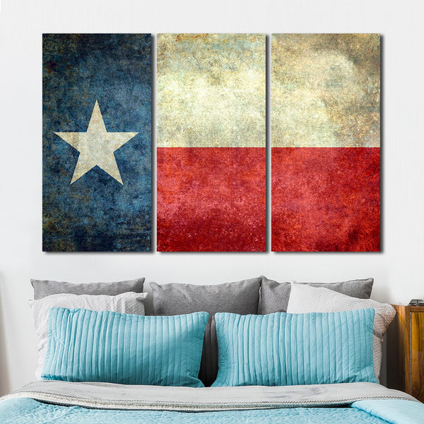 Texas Flag Multi Panel Canvas Wall Art