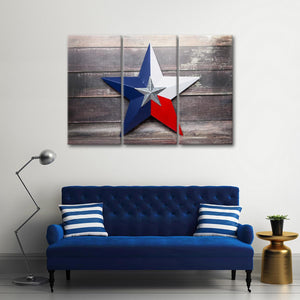 Texas Star Multi Panel Canvas Wall Art - Texas