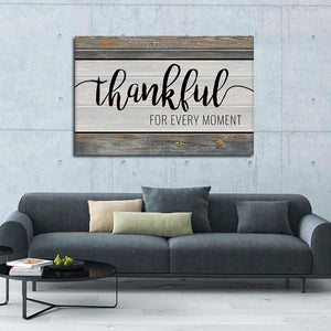 Thankful For Every Moment Multi Panel Canvas Wall Art - Inspiration