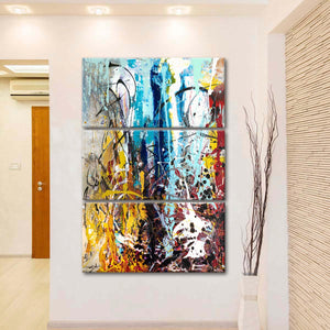 The Blue Above Us Multi Panel Canvas Wall Art - Abstract
